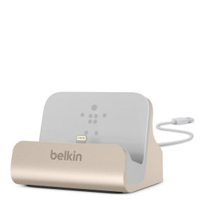 Belkin Iphone 5 And 6 Desktop Charge And Sync Desktop Dock - Gold
