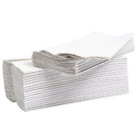 Flushable C-Fold Hand Towel Embossed 2-Ply White 24PK