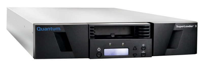 Quantum SuperLoader 3 LTO-7 HH, Media and HBA Bundle, SAS 16 Slot rack
