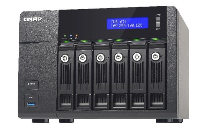 QNAP TVS671I34G 6TB (6 x 1TB WD RED) 6 Bay NAS