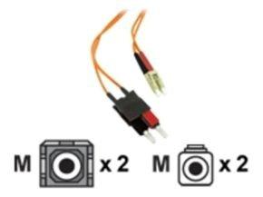 C2G, LC/SC LSZH Duplex 62.5/125 Multimode Fibre Patch Cable, 3m