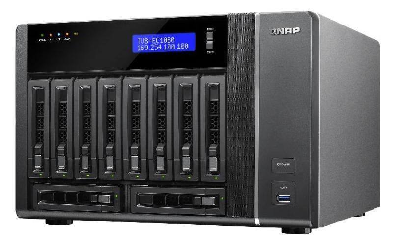 QNAP TVS-EC1080-E3-8G 60TB (10x6TB WD RED PRO) 10 Bay NAS