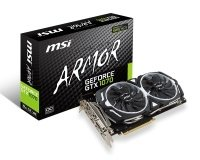 MSI GeForce GTX 1070 ARMOR 8G OC Dual-Link DVI-D HDMI 3x DisplayPort PCI-E Graphics Card