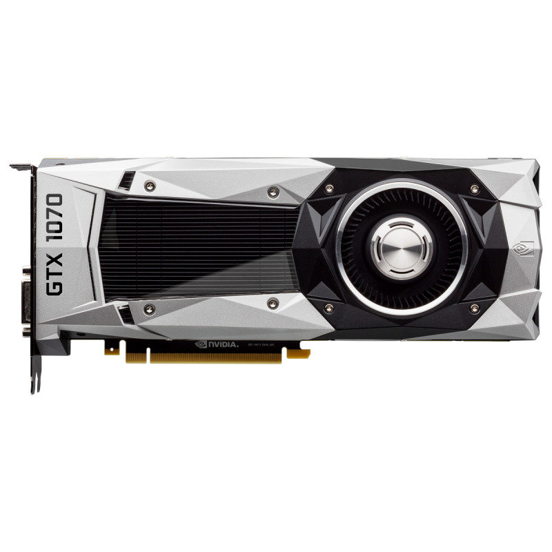 EVGA GeForce GTX 1070 Founders Edition 8GB GDDR5 DVI HDMI 3 x DisplayPort PCI-E Graphics Card