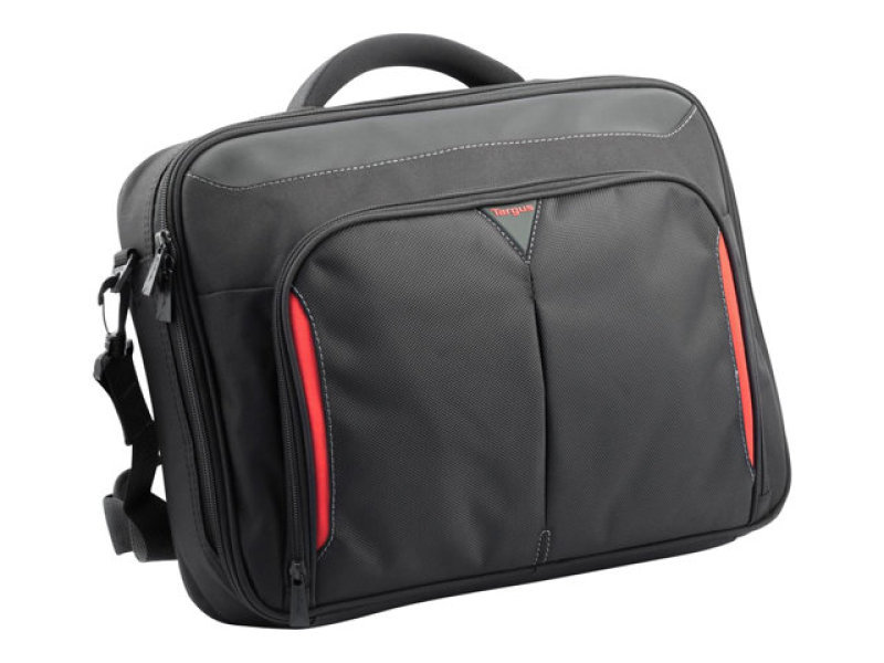 Targus classic 15 6 inch clamshell case black red for Clamshell casing