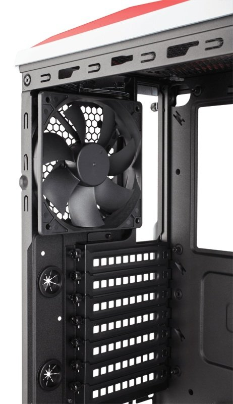 Corsair Carbide Series SPEC-ALPHA Mid-Tower Gaming Case - White/Red