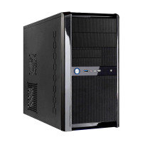 EXDISPLAY CIT Templar Micro Black Interior USB3 Port Micro ATX Gaming Case with 500W 120mm Black PSU