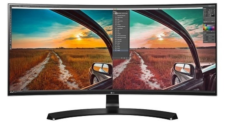 EXDISPLAY LG 34UC88-B - LED monitor - curved - 34 - 3440 x 1440 QHD - AH-IPS - 300 cd/m2 - 1000:1 - 5 ms - 2xHDMI DisplayPort - speakers - matt black - HDMI DisplayPort