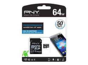 PNY Performance 64GB microSDXC UHS-I Memory Card