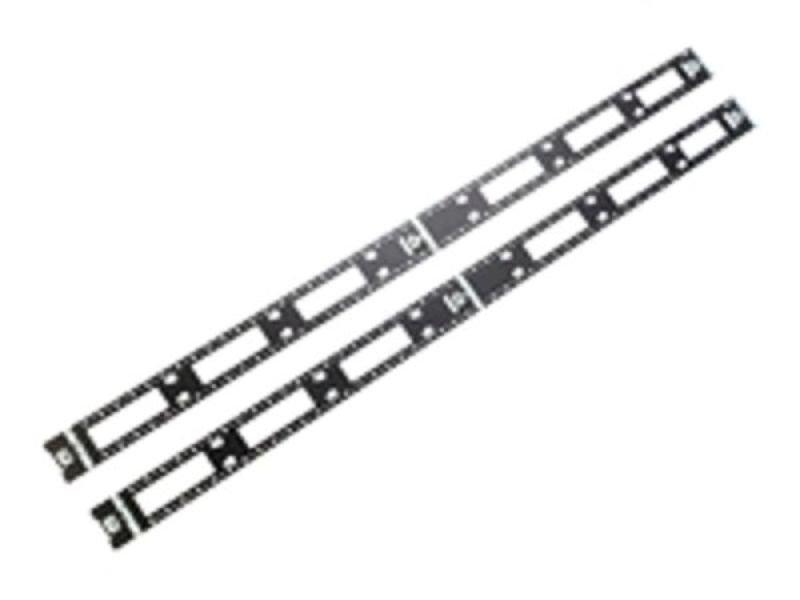 apc rack cable management kit  vertical  black