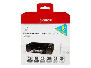 Canon PGI-29 Black & Grey Multi-Pack - 6 Inks