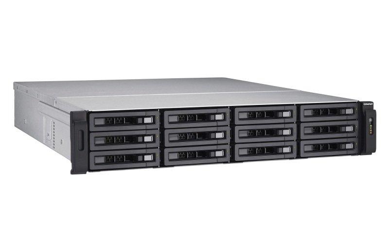 QNAP TVS-EC1280U-SAS-RP-8GE-R2 12 Bay Rack NAS with 8GB ECC RAM