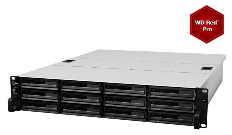 Synology RX1214RP 72TB (12 x 6TB WD RED PRO) 12 Bay 2U Expansion Unit
