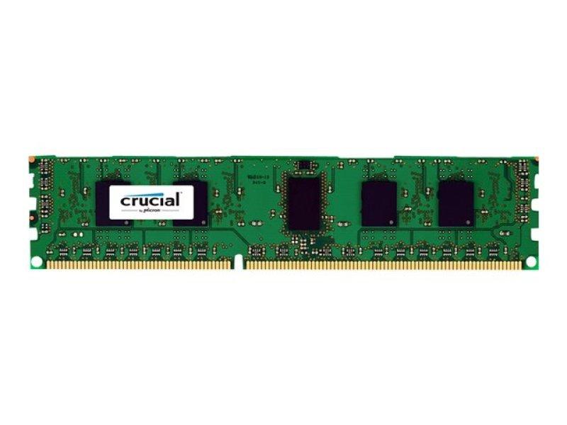Crucial 4GB DDR3 1600 MT/s (PC3-12800) CL11 Unbuffered ECC UDIMM 240pin 1.35V/1.5V (4Gb 9 chip)