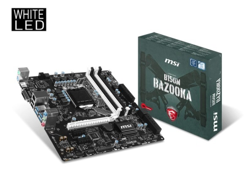 MSI B150M BAZOOKA Socket 1151 HDMI DVI-D 8-channel Audio Motherboard