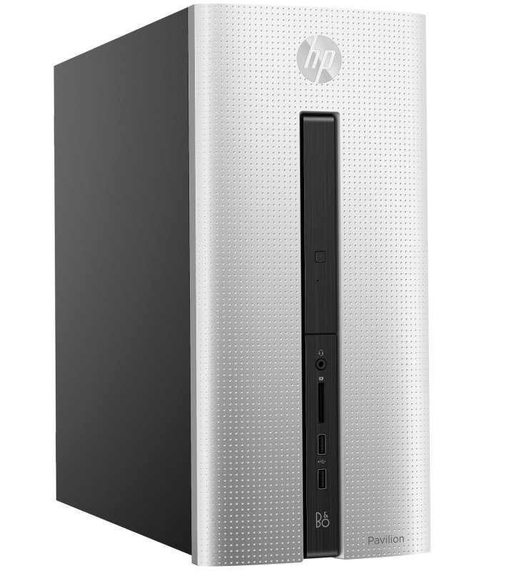 HP Pavilion 550-185 Gaming Desktop with AMD Quad Core A8-7600 / 8GB / 1TB HDD & 128GB SSD / Win 10