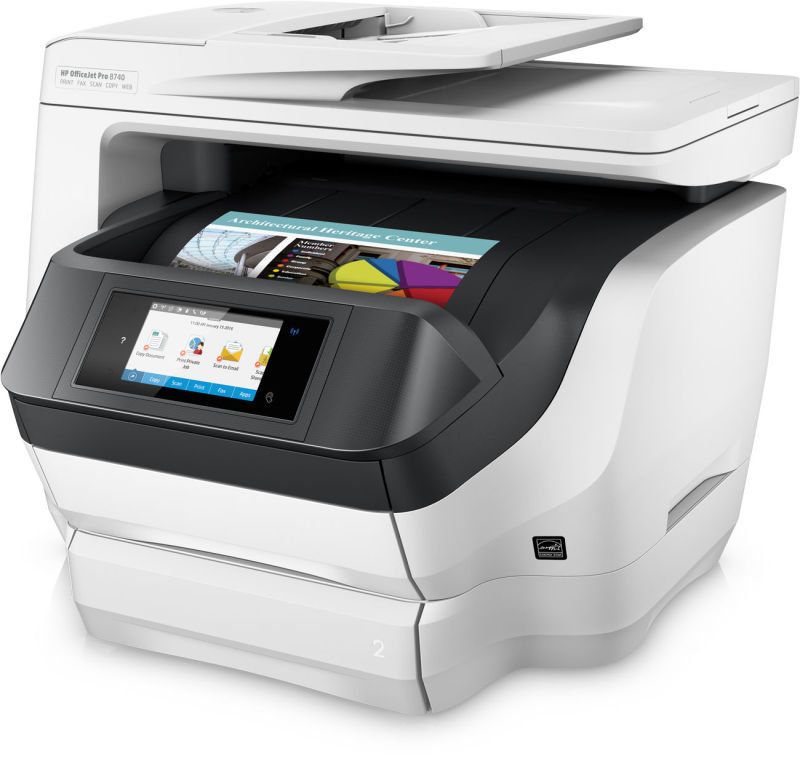 HP Officejet Pro 8740 All-in-One Multifunction Wireless Inkjet Printer