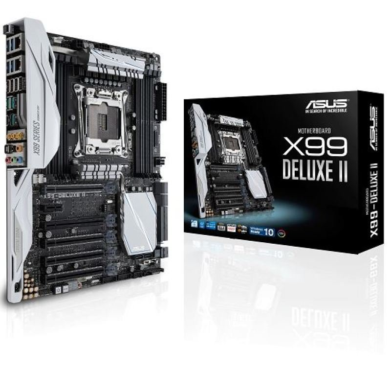 Asus X99DELUXE II Socket LGA 2011v3 8Channel HD Audio ATX Motherboard