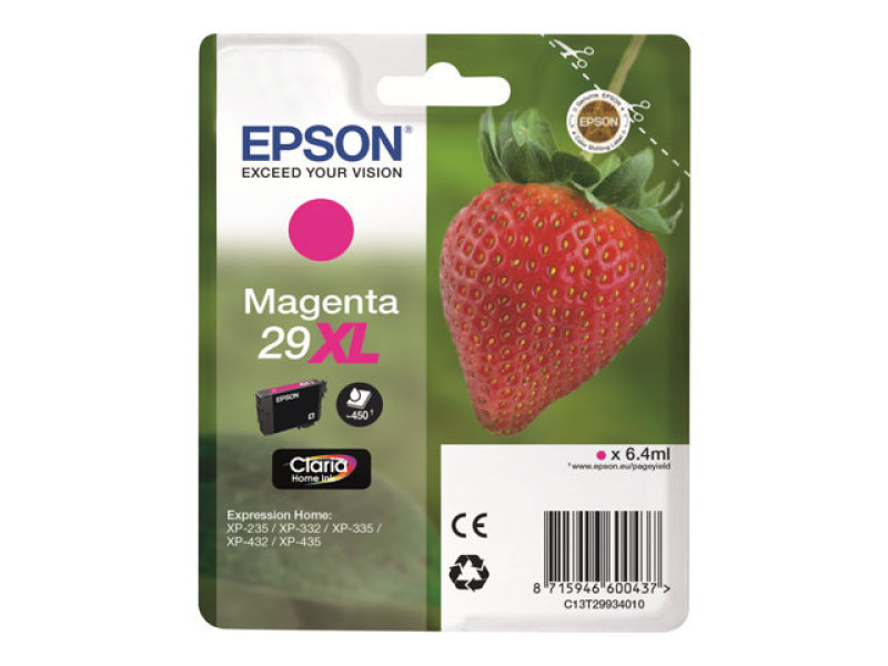 Epson Singlepack Magenta 29XL Claria Home Ink