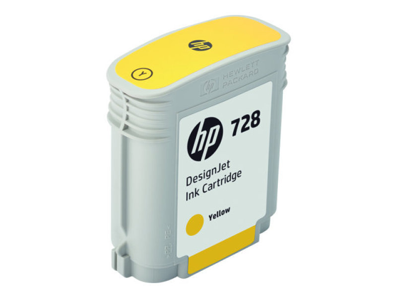 HP 728 130ml Yellow Designjet Ink Cartridge - F9J65A