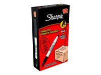 Papermate Sharpie Twin Tip Marker Black - 12 Pack