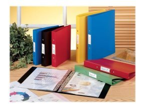Rexel Budget Ring Binder Polypropylene 2-OR 25mm A4 Red (Pack 10)