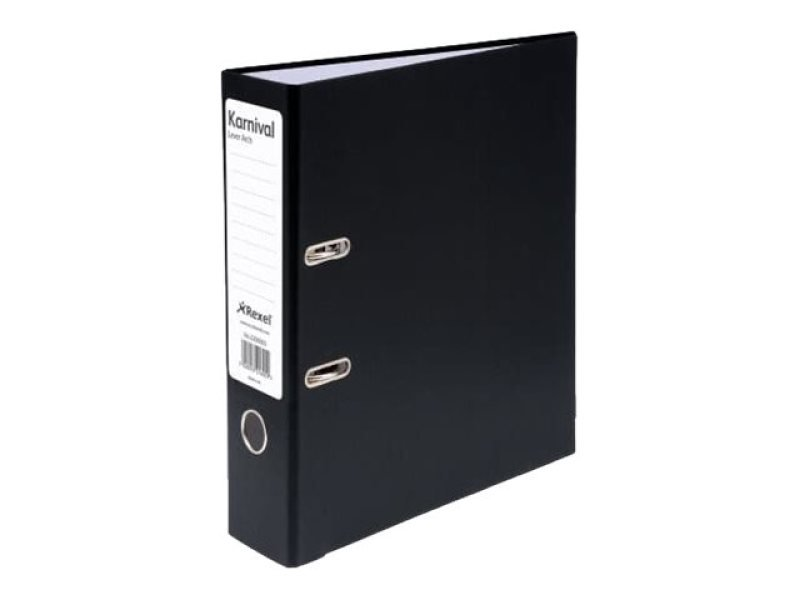 Rexel Karnival (A4) Lever Arch File 70mm Spine (Black) - 1 x Pack of 10 Files