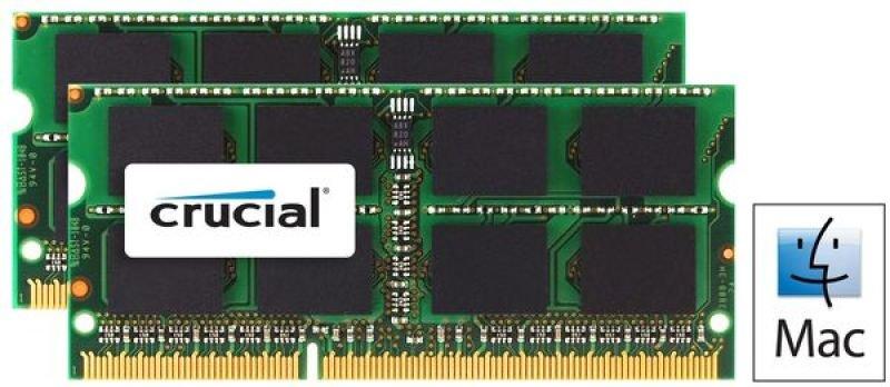 Crucial 8GB Kit (4GBx2) DDR3 1600 MTs (PC312800) CL11 SODIMM 204pin 1.35V  1.5V for Mac