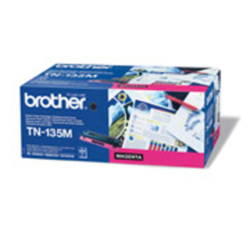 BROTHER TN135M MAGENTA TONER CARTRIDGE (4 000 A4 PAGES @ 5 COVERAGE)