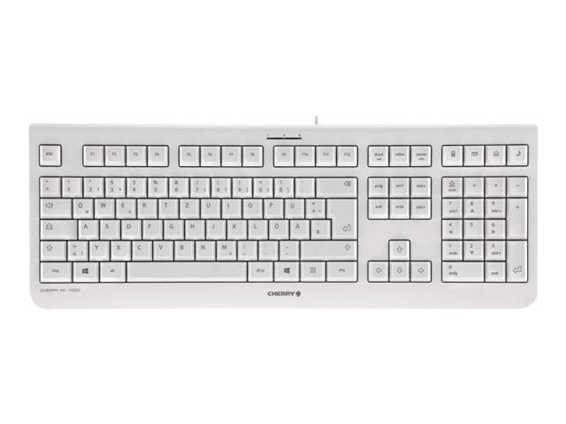Cherry Kc 1000 Wired Usb Keyboard (pale Grey) - Uk