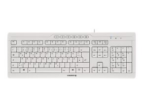 Cherry G85-23200 Stream 3.0 Wired Usb Keyboard (pale Grey) - Uk