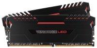 Corsair Vengeance LED 16GB (2 x 8GB) DDR4 DRAM 2666MHz C16 Memory Kit- Red LED Lighting