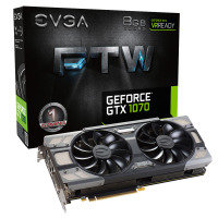 EVGA GeForce GTX 1070 FTW GAMING ACX 8GB GDDR5 DVI-D HDMI 3x DisplayPort PCI-E Graphics Card