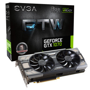 EVGA GeForce GTX 1070 FTW GAMING ACX 8GB GDDR5 Graphics Card...
