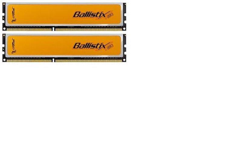 Crucial 4GB (2x2GB) DDR3 1600MHz Ballistix Memory Kit CL8(8-8-8-24) 1.65V Unbuffered Non-ECC