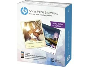 HP Social Media Snapshots Removable 10x13cm Sticky Photo Paper - 25 Sheets