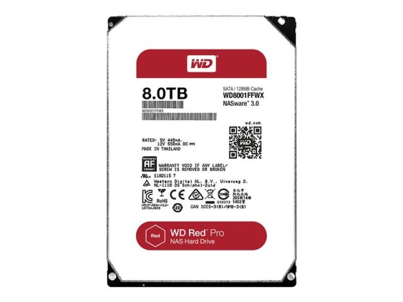 WD Red Pro 8TB NAS Hard Drive