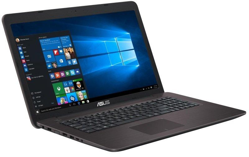 "Image of Asus X756UA Laptop, Intel Core i3-6100U 2.3GHz, 8GB RAM, 1TB HDD, 17.3"" LED, DVDRW, Intel HD, WIFI, Bluetooth, Webcam, Windows 10 Home 64bit"