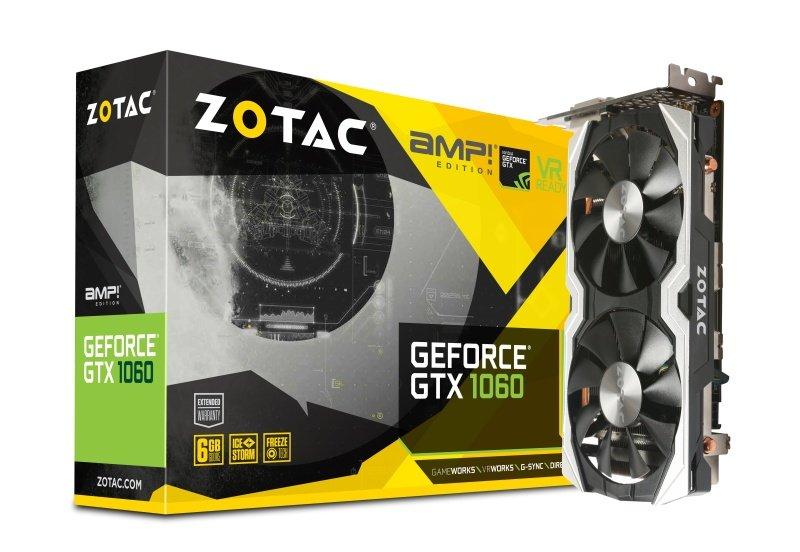 Zotac GTX 1060 6GB AMP! Edition GDDR5 Graphics Card