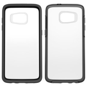 Otterbox Symmetry Clear Cover Case for Samsung Galaxy S7 Edge - Black Crystal