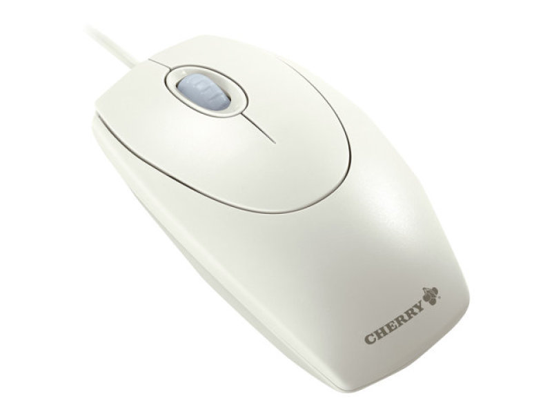 Cherry M-5400 Wired Wheel Mouse With Optical Sensor (light Grey)