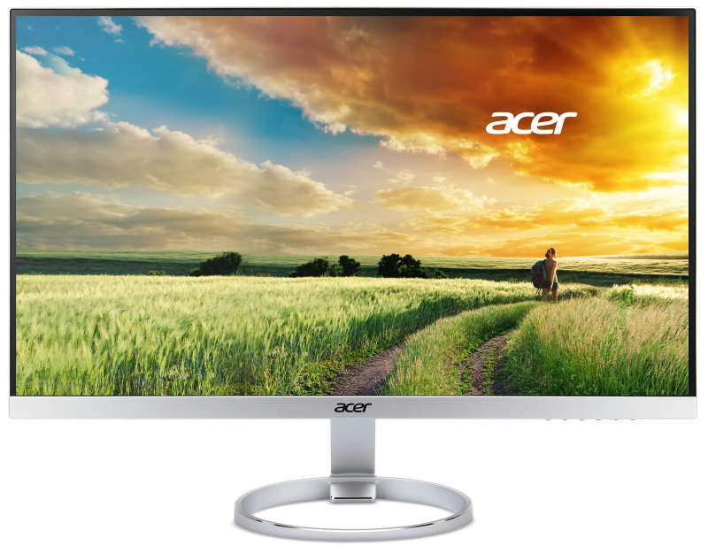 69cm (27'') Wide, 16:9 4K2K ZeroFrame IPS LED FreeSync 4ms 100M:1 ACM 350nits DVI HDMI 2.0 DP miniDP MM DTS Sound Audio Out EURO/UK EMEA MPRII Silver/Black Acer EcoDisplay