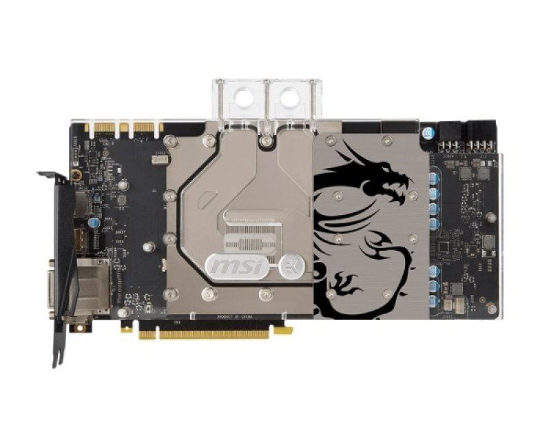 MSI GeForce GTX 1070 Sea Hawk EK X Dual-Link DVI-D HDMI 3x DisplayPort PCI-E Graphics Card