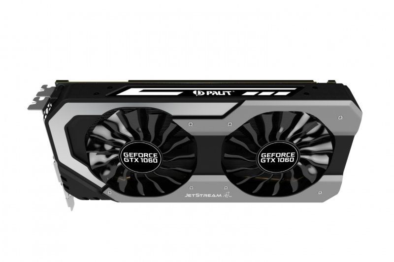 Palit GeForce GTX 1060 Super JetStream 6GB GDDR5 Dual-Link DVI-D HDMI 3x DisplayPort Graphics Card