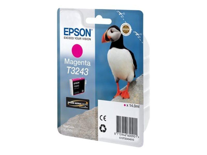 Epson T3243 Ultrachrome Hi-Gloss2 Magenta Ink Cartridge