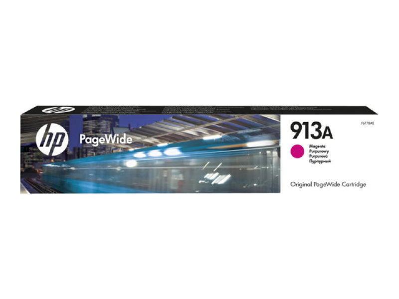 HP 913A - Magenta - original - PageWide - ink cartridge - for PageWide Managed MFP P57750dw, P55250dw, PageWide Pro 452dn, 452dw, 477dn, 477dw, 552dw