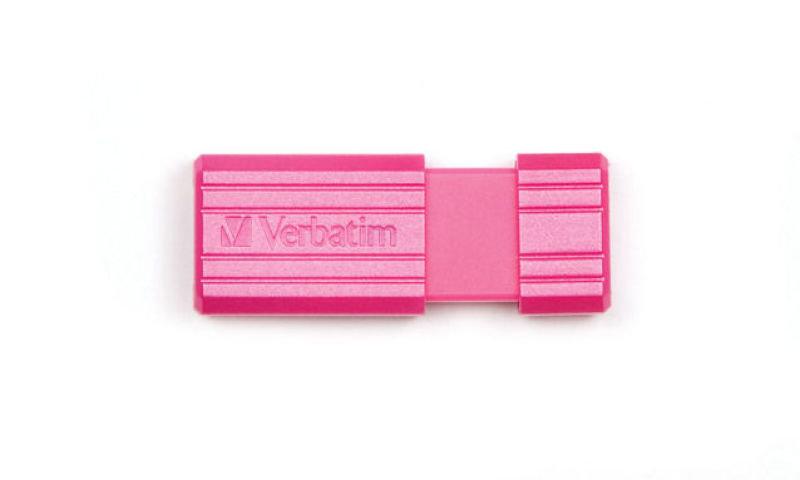 Verbatim 32GB 49056 PinStripe USB 2.0 Flash Drive - Hot Pink