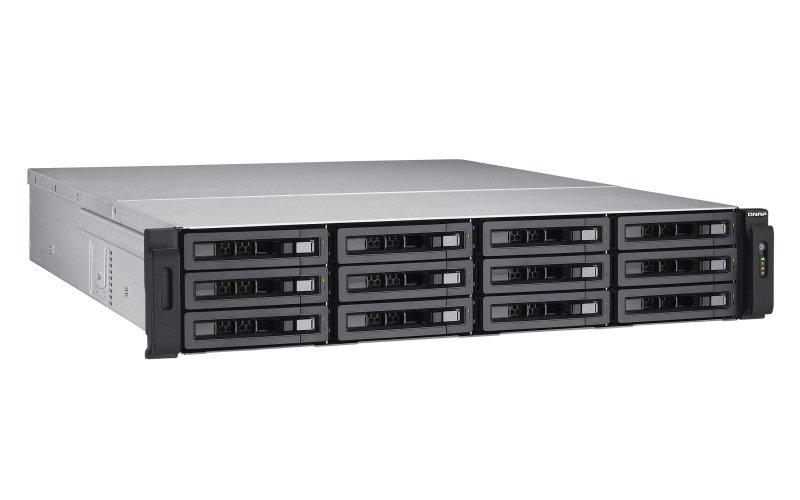 QNAP TS-EC1280U-E3-4GE-R2 72TB (12 x6TB WD RED PRO) 12 Bay with 4GB RAM