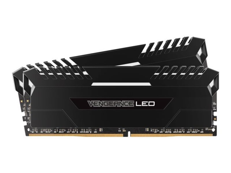 Corsair Vengeance LED 16GB (2 x 8GB) DDR4 DRAM 3000MHz C15 Memory Kit -  White LED Lighting