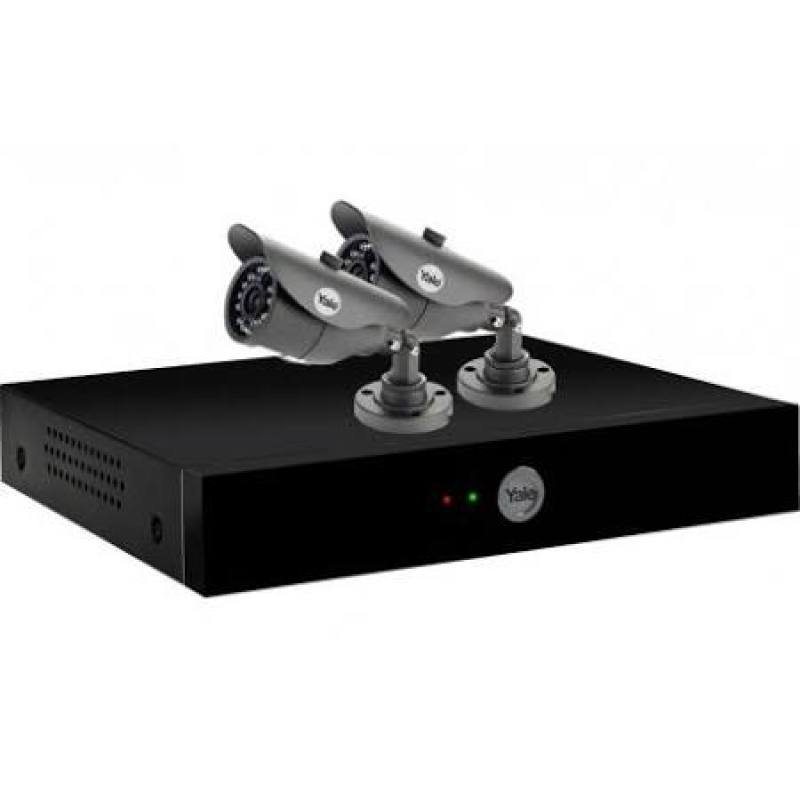 Yale YCKH48002 4Channel 960H CCTV Digital Video Recorder & 2 Cameras